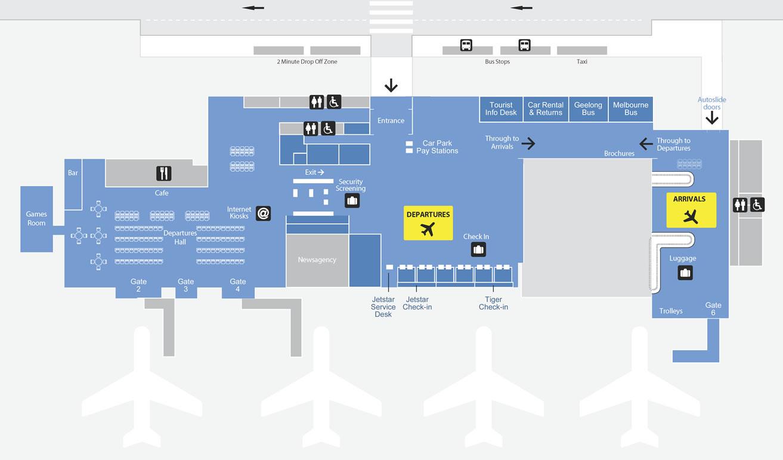 阿瓦伦机场航站楼平面图