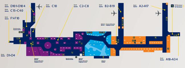 哥本哈根机场航站楼平面图