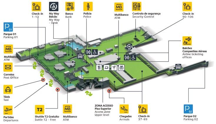 里斯本机场航站楼平面图